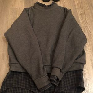 Lf flannel with attached sweatshirt